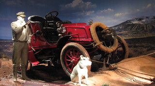 1903 Winton - first car driven across the US (before roads!) with Bud the Dog -  in the National Museum of American History