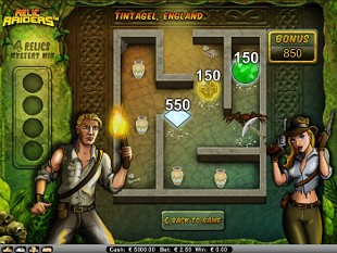 Relic Raiders bonus game