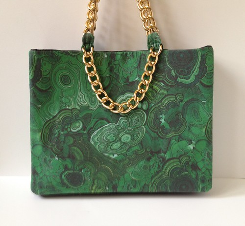 Malachite + Gold Shoulder Bag 34