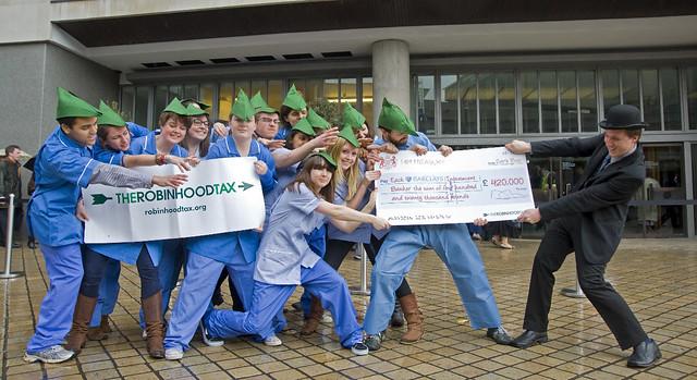 Robin Hood Tax tug of war at the Barclays AGM