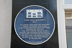 Photo of Town Hall, Bournemouth and George Tapps blue plaque