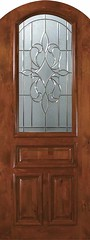 New Orleans Decorative Glass Arch Top Arch Lite Knotty Alder Entry Door 3 0 x 8 0 E19142A-C