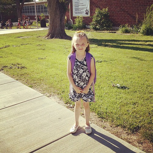 Izzy, on her last day of school. 2012