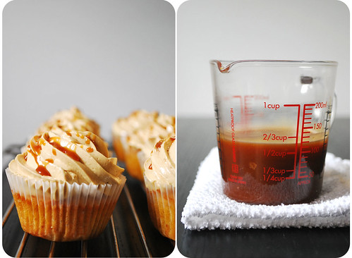 Caramel Cupcakes with Salted Caramel Frosting II