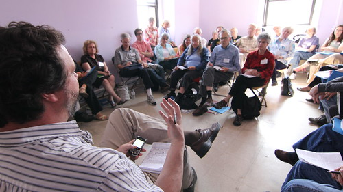 Kevin Martin of Peace Action speaks at workshop about Afghanistan
