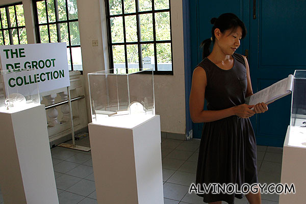 Actress Patricia Toh as a curator of the De Groot Collection
