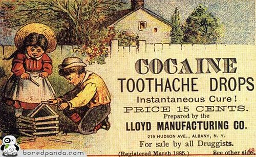 ad for cocaine toothache drops