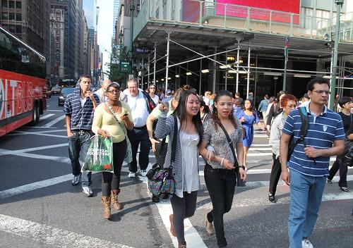 Pedestrians in NYC at risk