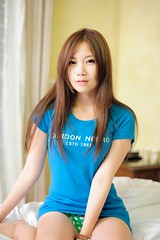 [Free Images] People, Women - Asian, T-Shirt, Taiwanese People ID:201206022200