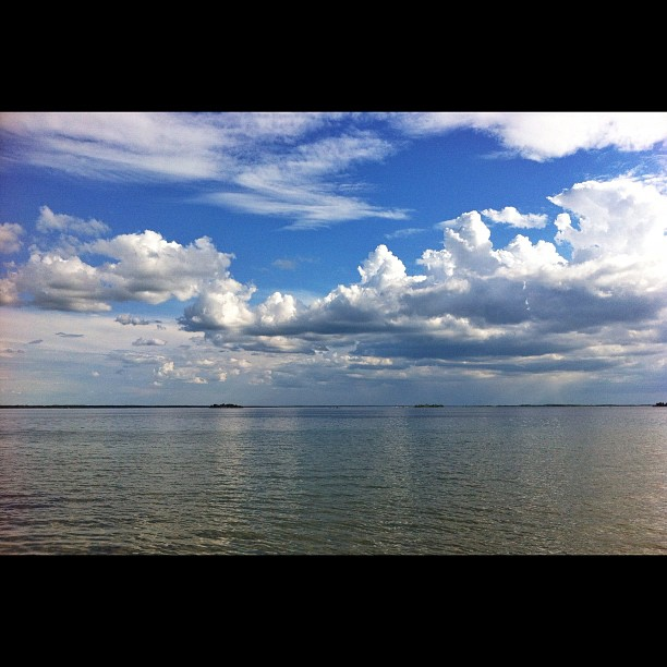 Clouds over the river, St. Lawrence river, near Buttonville, Ontario #nature #lake #ontario #landscape #landscape #canada #snapseed #iphone4 #sky #clouds #water