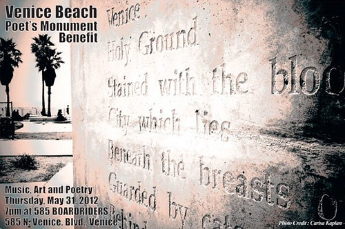 Venice Beach Poetry Monument Benefit