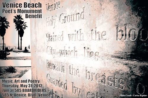 Venice Beach Poetry Monument Benefit