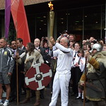 Olympic Torch - Tony Pulis - Potteries Museum