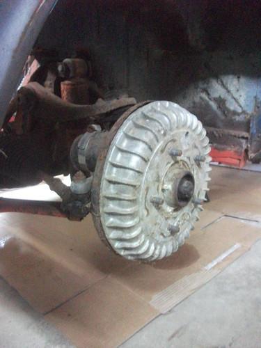 Front drum brakes