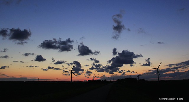 Zonsondergang vrijdag 1 juni 2012