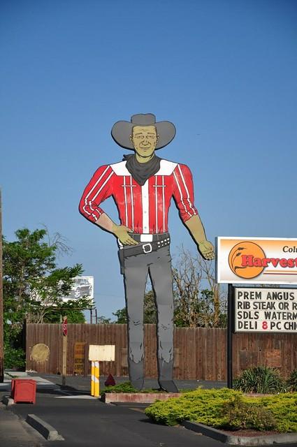 Giant cowboy