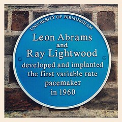 Photo of Leon Abrams and Ray Lightwood blue plaque