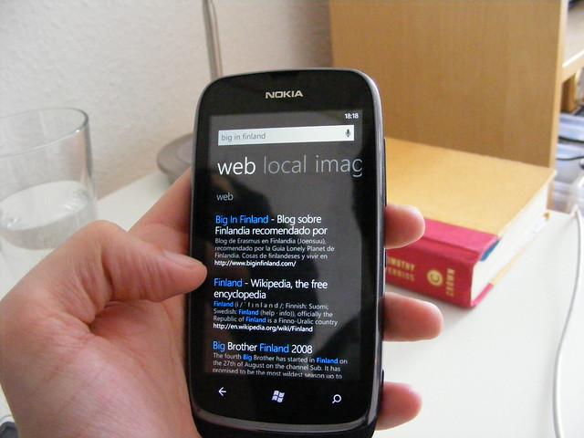 Buscando el blog en Bing