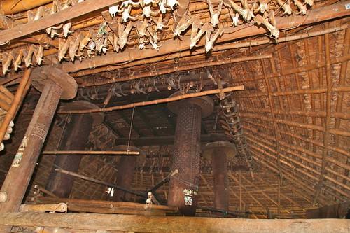 Inside a traditional house, Kampung Baranobaroro, Pero, Sumba Barat