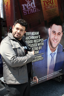 Adam Richman with the Jim Beam Red Stag food truck in Tampa
