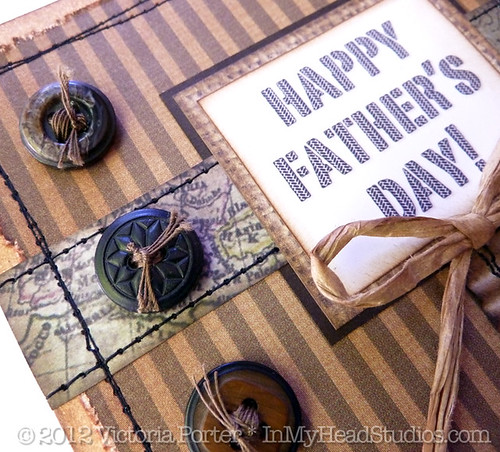 Father's Day Card :: Button & Map Strip Detail
