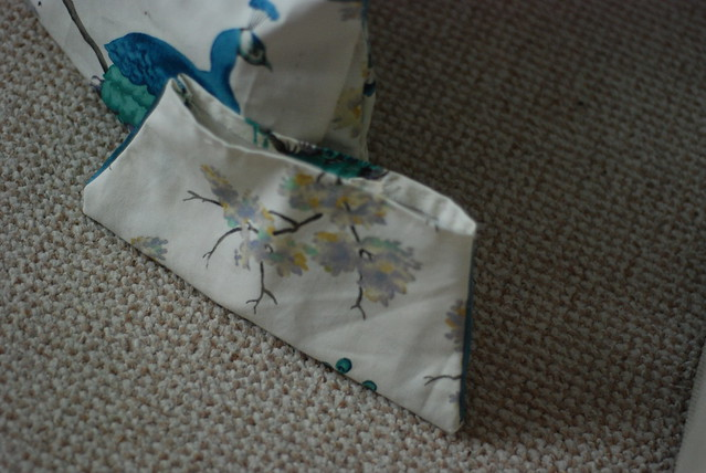 Hand sewn pouch bag