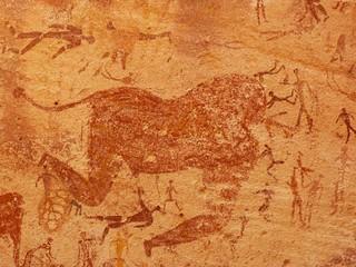 Escena de la cueva de las bestias (Wasi Sura, Egipto)