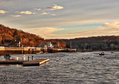 park sunset sky ny newyork water clouds suffolk huntington coldspringharbor billyjoelpark