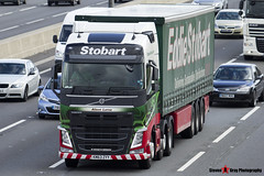 Volvo FH 6x2 Tractor with 3 Axle Curtainside Trailer - KM63 ZYY - Alison Lorna - Eddie Stobart - M1 J10 Luton - Steven Gray - IMG_6896