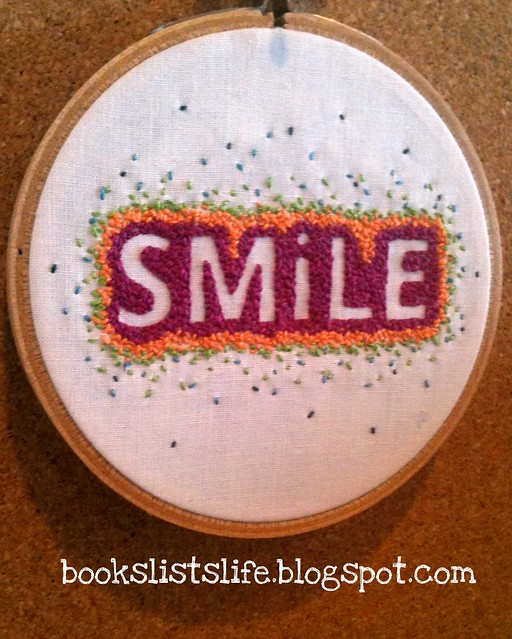 Smile embroidery for stitch swap