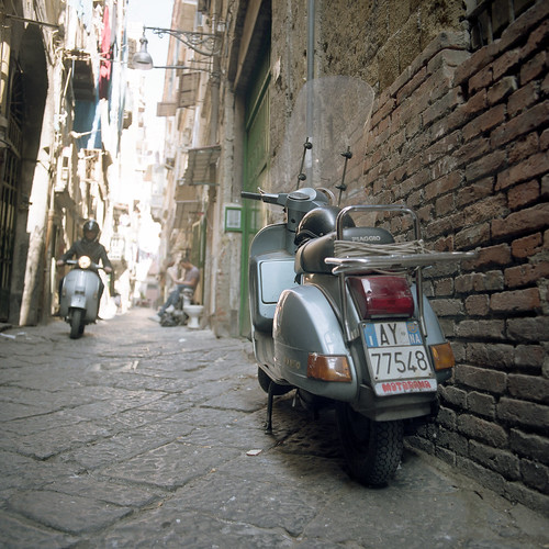 (Vespa in the Alley) by Robbie McIntosh Photography