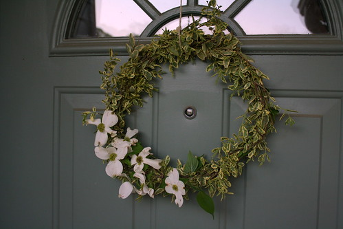 springy dogwood wreath