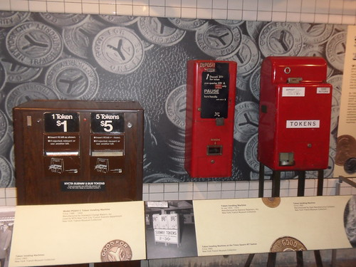 Token vending machines at the New York Transit Museum