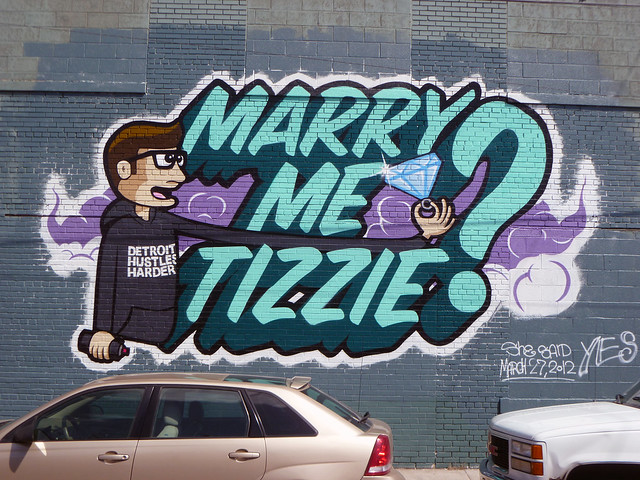 Marriage Proposal. Detroit 2012