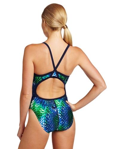 Python racerback swimwear