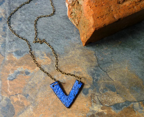 Chevron Indigo Necklace