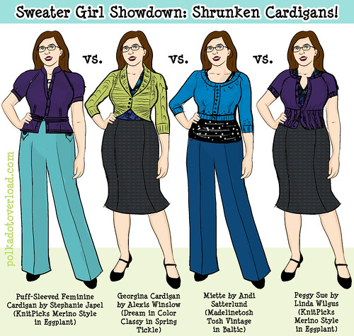 Sweater Girl Showdown: Shrunken Cardigans!