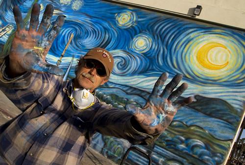Muralist Rip Cronk