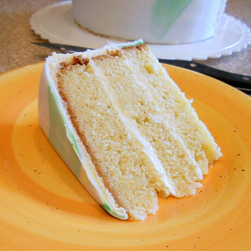 Mild Coconut Cake with Tangy Key Lime Buttercream