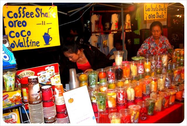 luang prabang night market fruit shakes