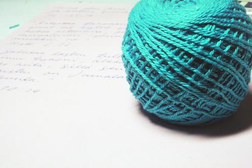 Memorable ball of crocheting yarn