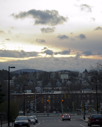 street city sky urban mountain west clouds manchester photography evening downtown shoot view dusk side newhampshire nh class mount round summit uncanoonuc nhia
