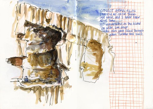 120421 Sketchcrawl35_03 Convict Grain Silos
