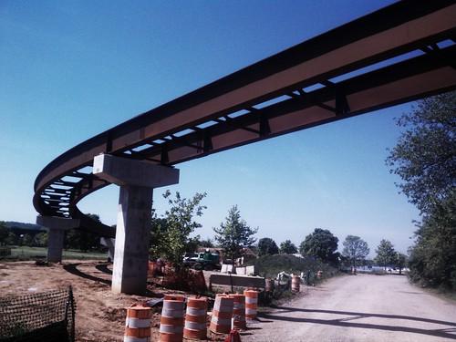 Osprey Bridge, with steelwork