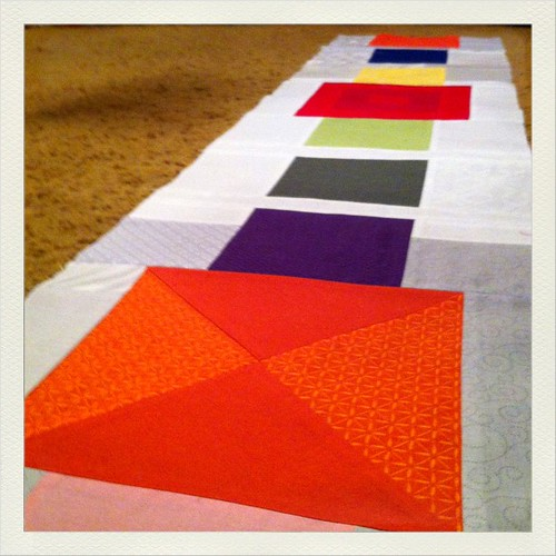 Started sewing a new quilt project this evening