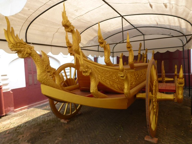The old carriage that carried the Royal family