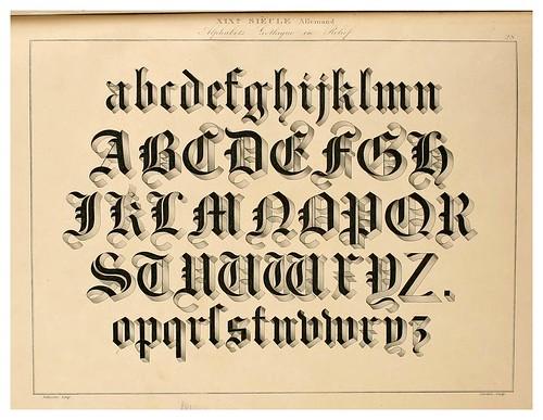 012-Alphabet-Album collection de soixante feuilles d'alphabets historiés 1843- Joseph-Balthazar Silvestre