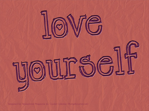 """A text graphic saying """"Love Yourself"""""""
