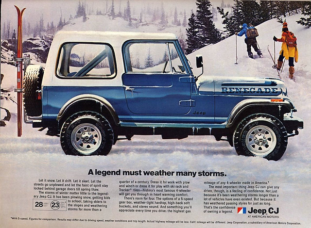 1982 AMC Jeep CJ (Renegade) ad