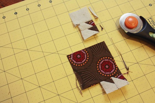 Step 9: Trim the edges to be sewn together straight